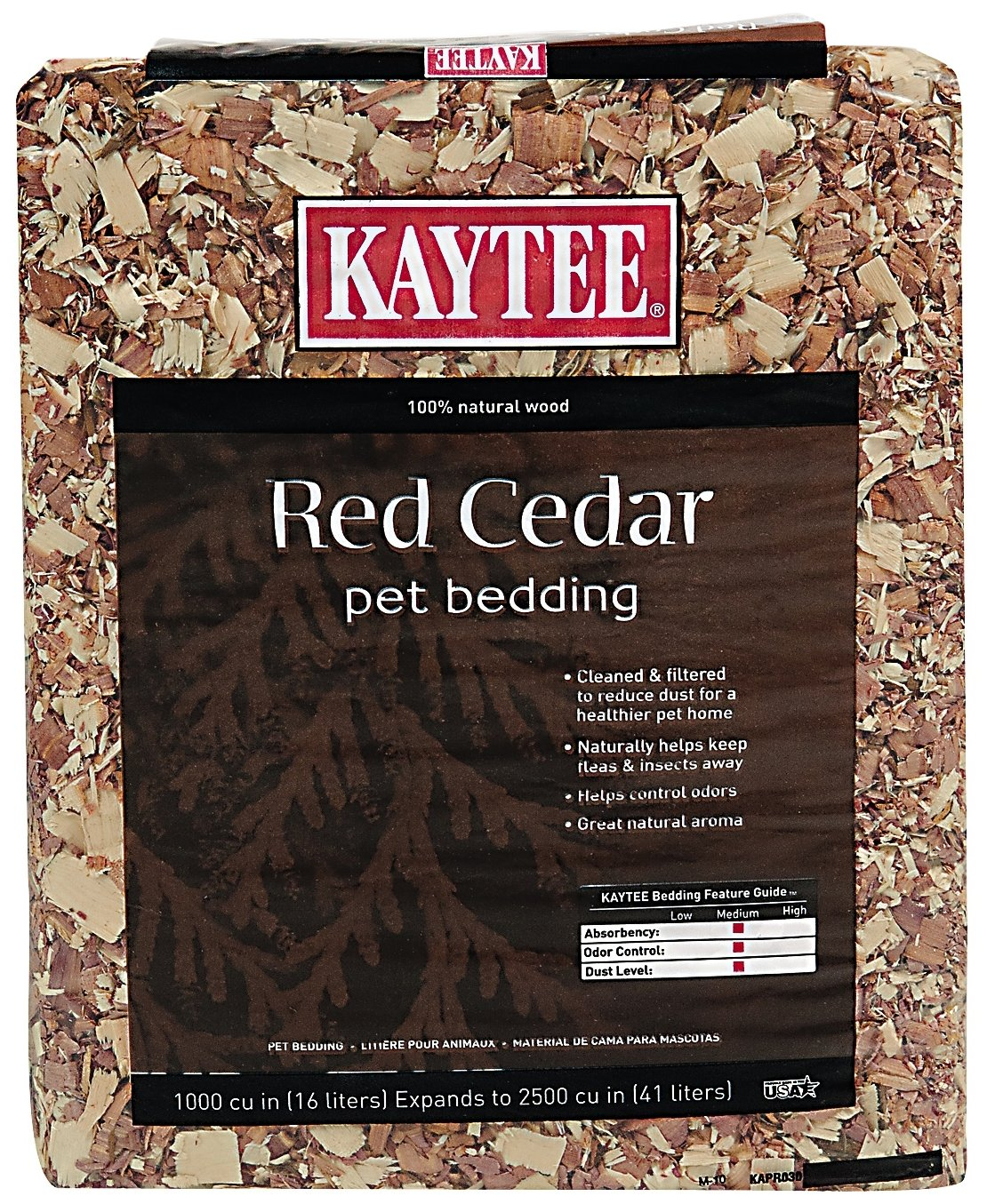 Kaytee Cedar Pet Bedding for Pet Cages Kaytee Cedar Bedding 1000 Cubic Inch 100032012