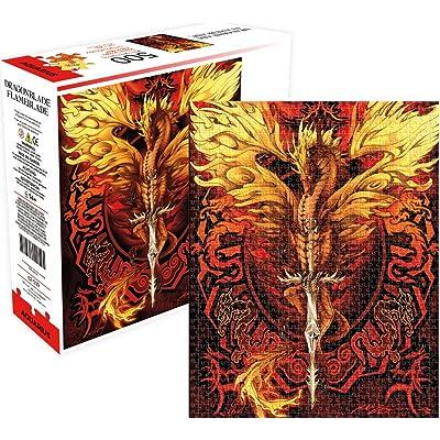 Aquarius Dragon Blade Flameblade Jigsaw Puzzle: Toys & Games