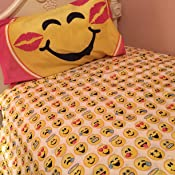 MA643CT Twin Jay Franco /& Sons Inc Emoji 3 Piece Microfiber Sheet Set with Pillowcase