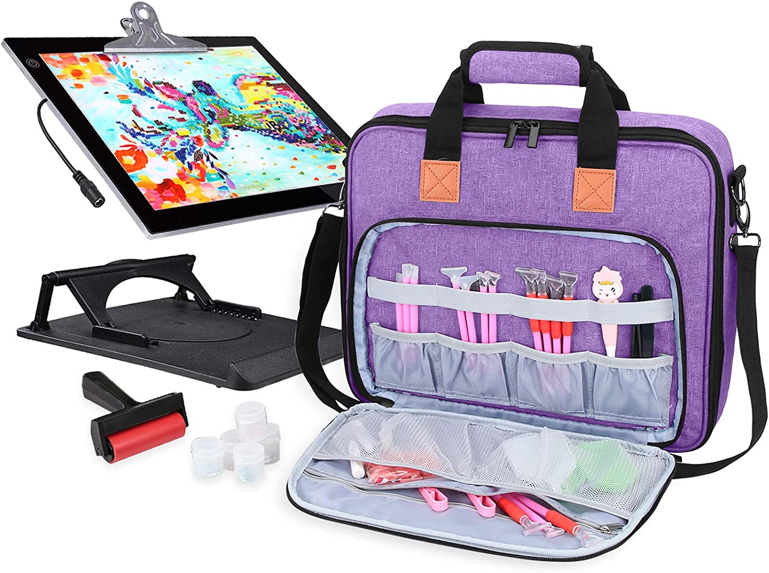 Scraper and Plate Diamond Painting Tools Accessories Laptop Case with Diamond Painting pens Hand-held Protective Bag for A4 Light Pad