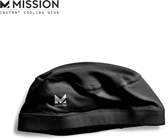 Mission Cooling Skull Cap- Hat, Helmet Liner, Running Beanie, Evaporative Cool Technology, Cools Instantly when Wet, UPF 50 Protection, for Under Helmets, Hardhats, Running, Football