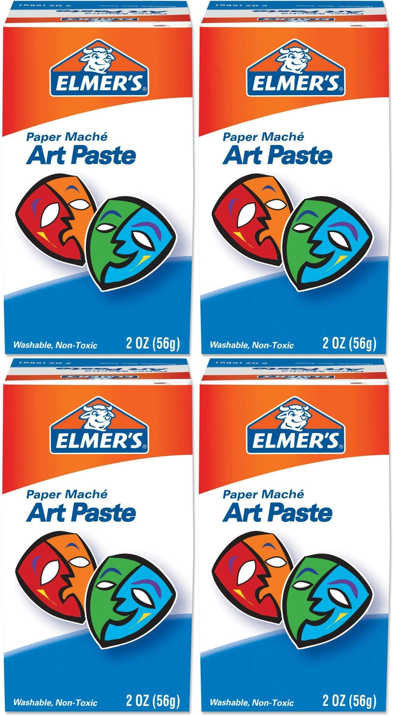 ELMERS Art Paste, Paper Macha, 2 Oz (99000) Pack of 4 by Elmer's