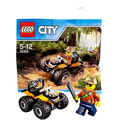 LEGO City Jungle 30355 ATV Car with Minifigure 2020 (Polybag) - Ages 4 Up: Toys & Games