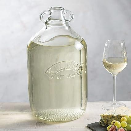 Kilner damajuana 4,5 L – Set de 4 – Gran botella de cristal para