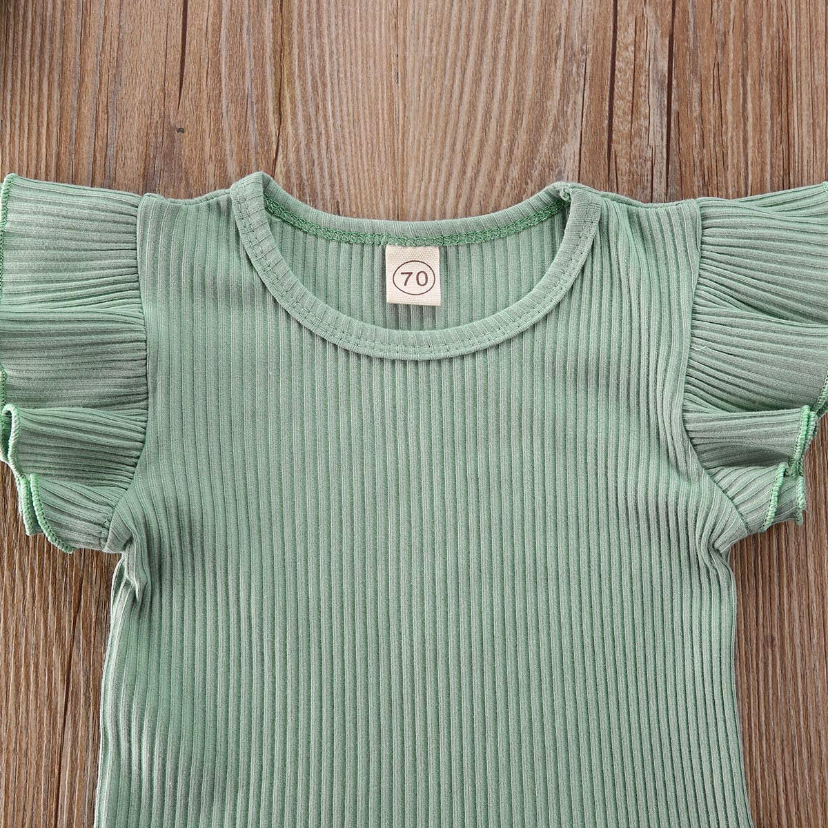 CADIAL Newborn Baby Girl Clothes Sleeveless Romper+Ruffles Short Pants+Headband 3Pcs Summer Shorts Outfit