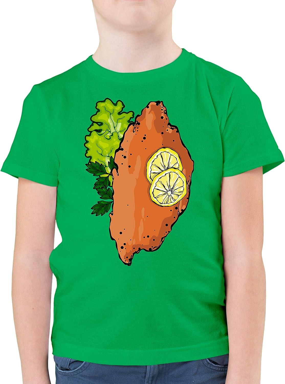 Karneval /& Fasching Kinder Kinder Pullover Shirtracer Schnitzel Kost/üm