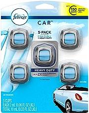 Febreze Car, Aromatizante de Ambientes para Auto, Linen & Sky, 5 Pack
