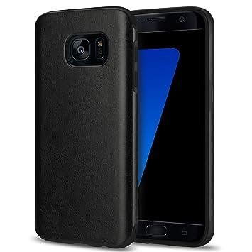 TENDLIN Funda Samsung Galaxy S7 Cuero Silicona TPU Híbrido Suave Carcasa para Samsung Galaxy S7 (Negro)