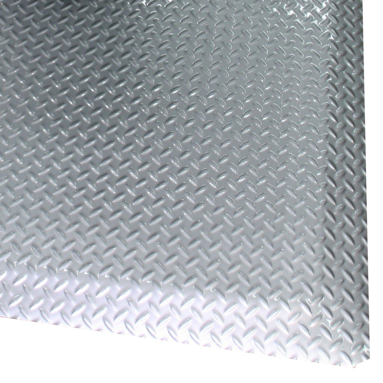 Rhino Mats SS-2436PL Sport Salon Anti-Fatigue Shampoo Mat, 2' Width x 3' Length x 9/16'' Thickness, Platinum