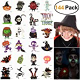 Temporary Tattoos for Kids Halloween Unicorn Birthday Party Favors Pack 144 Assorted (Halloween Tattoos Glow in The Dark)