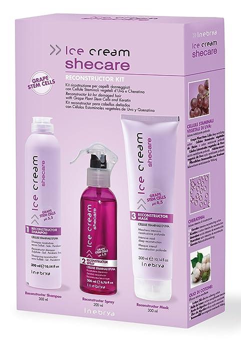 3 opinioni per Shecare Reconstruction Kit- Kit ricostruzione per capelli danneggiati Inebrya