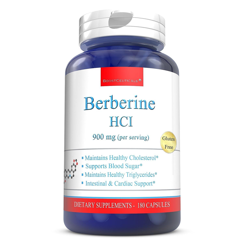 BoostCeuticals Berberine 900mg Ideal Daily Dose Berberine Supplements Pure Non-GMO Gluten Free Berberine HCL Support Complex