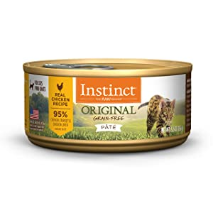 Instinct Original Grain Free Real Chicken Recipe Natural Wet Canned Cat Food by Nature's Variety