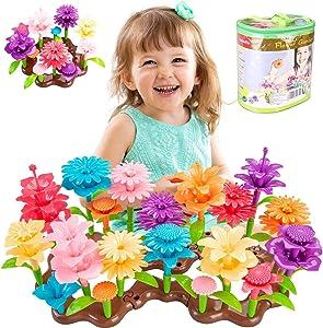 STEM Toy Building Sets for 3 4 5 6 7 Years Old Girls, Flower Garden Building Blocks Toys Set 100 PCS
