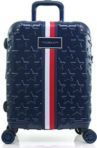 Tommy Hilfiger Starlight Hardside Spinner Luggage, Deep Navy, 21 Inch