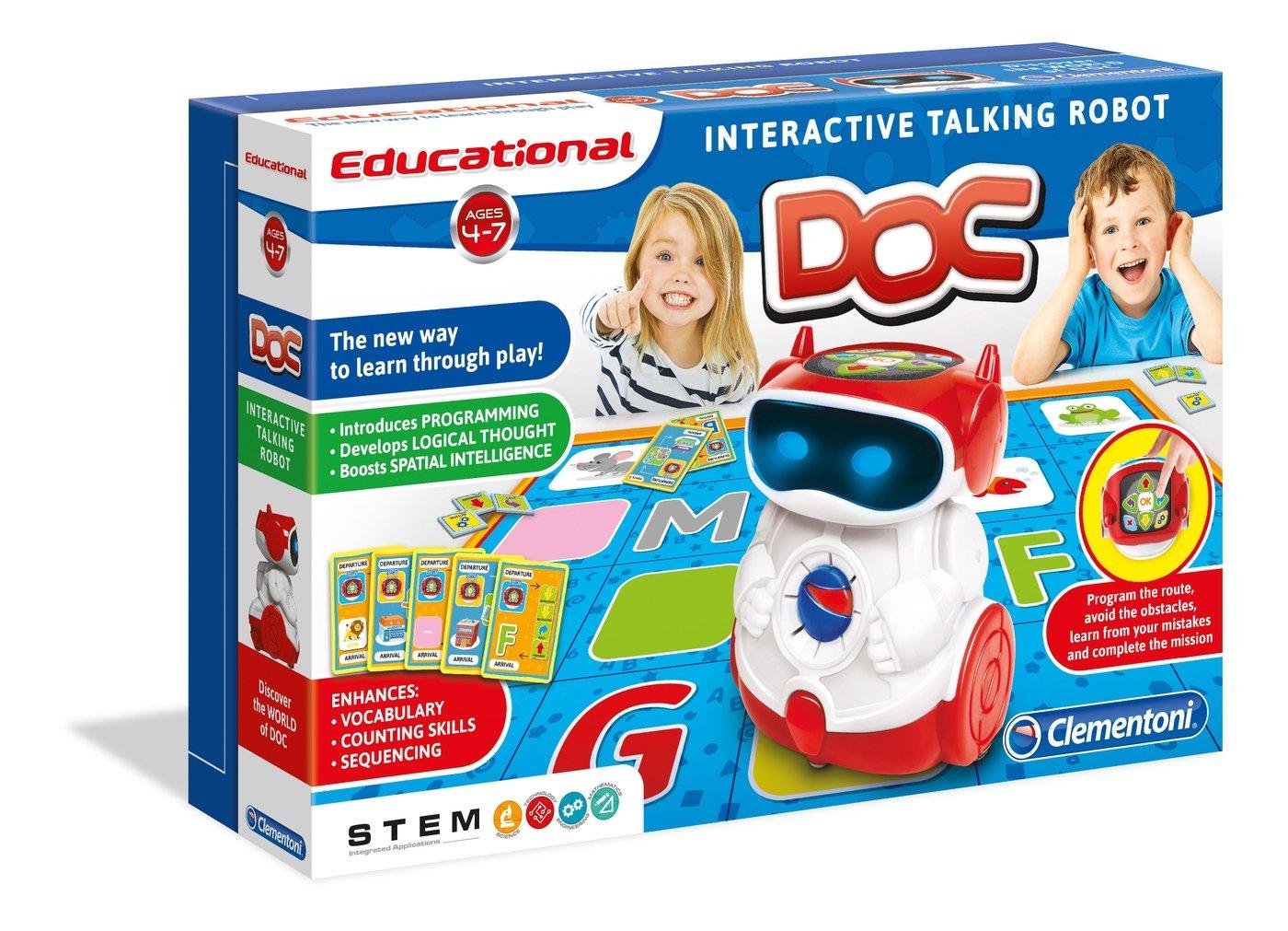 Interactive Talking Robotic Toy DOC Talking Robot Kids Learning Bot Clementoni 75017