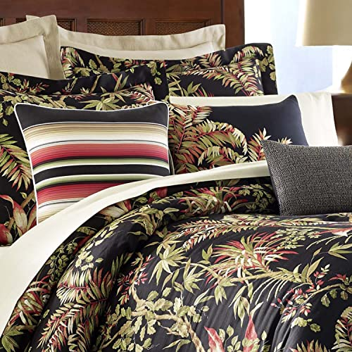 Tommy Bahama Jungle Drive Throw Pillow, 18×18, Black