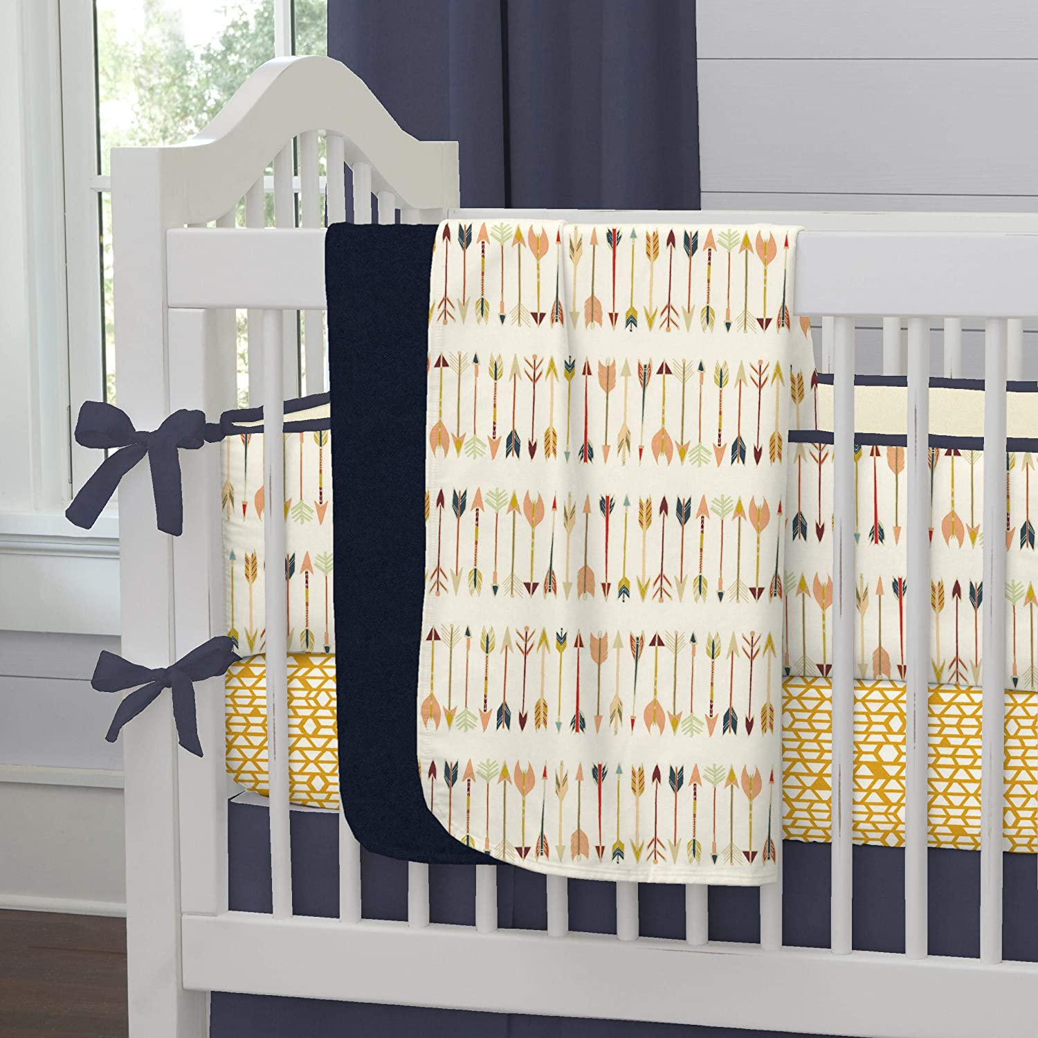 Carousel Designs Tribal Arrow Crib Blanket