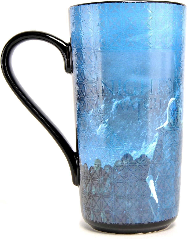 Taza de leche de cer/ámica color negro y azul talla /única