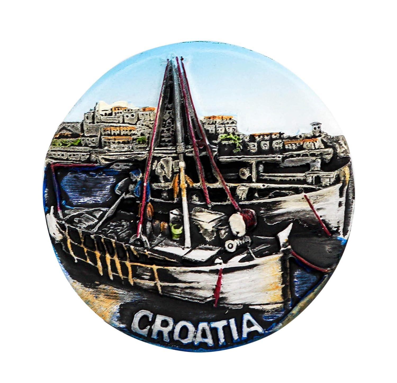 Carte de Contour R/épublique de Croatie zamonji 3D R/ésine Aimant de R/éfrig/érateur Tourist Souvenir de Voyage