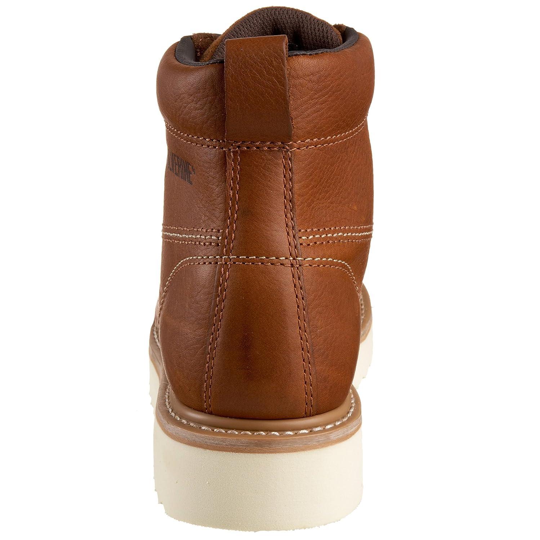 Wolverine Mens Moc Toe 6 Work Boot Industrial Sepatu Caterpillar Low Boots Suede Construction