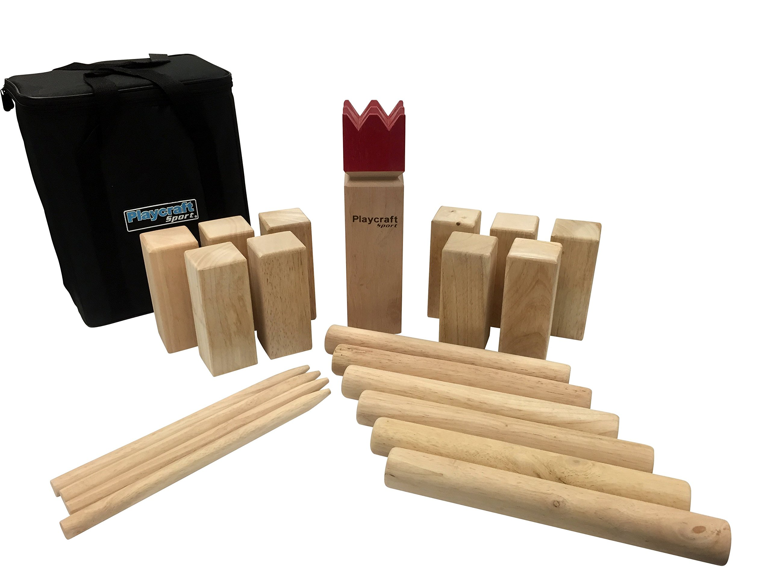 Playcraft Sport Deluxe Hardwood Kubb Game Set by Playcraft Sport (Image #1)