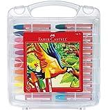 Faber Castell Blendable Oil Pastels In Durable Storage Case- 24 Vibrant Colors - Non-Toxic Pastels for Kids