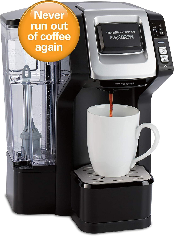 Hamilton Beach 49968 FlexBrew Connected Cafetera de una sola taza con Amazon Dash Auto Reposición para cápsulas de café: Amazon.es: Hogar