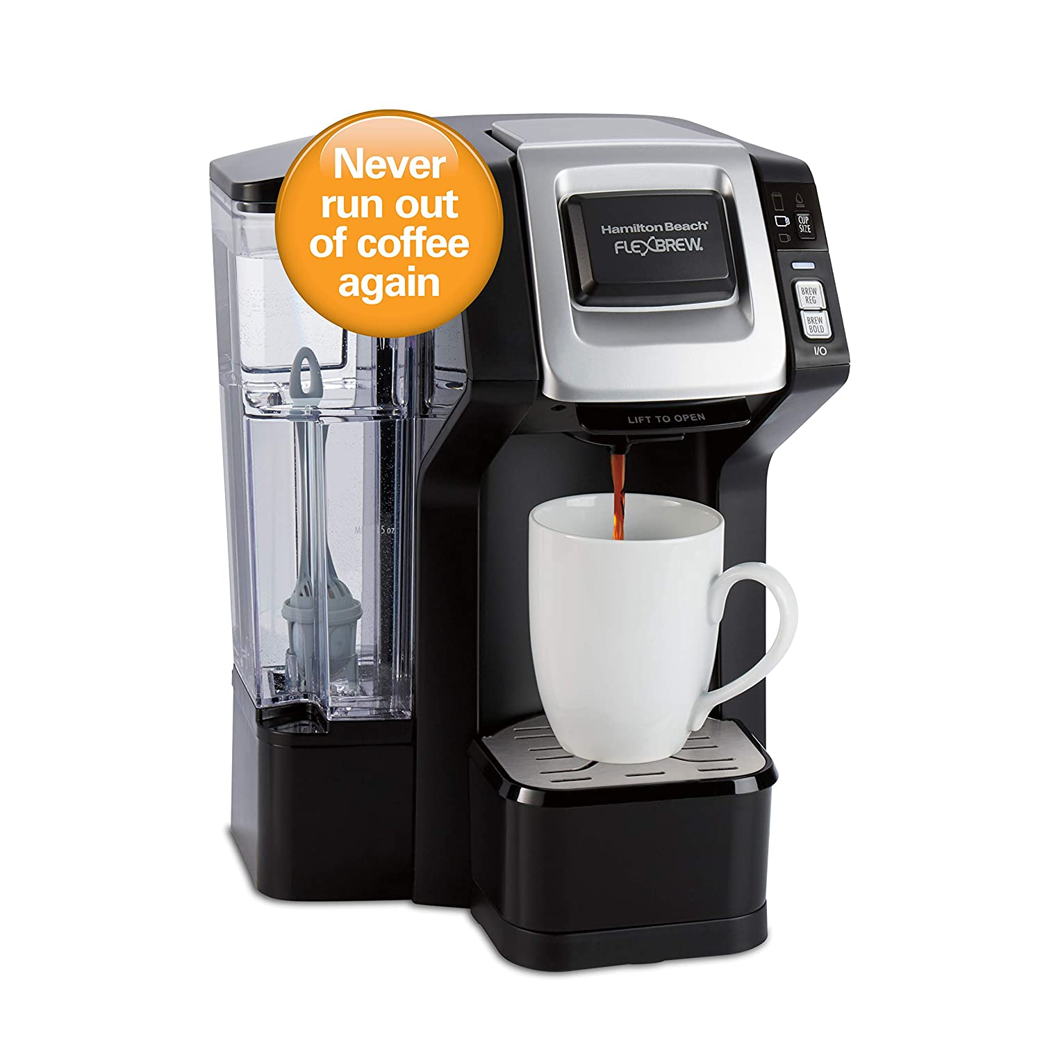 Hamilton Beach 49968 FlexBrew Connected Single-Serve Coffee Maker, with Amazon Dash Auto Replenishment for Coffee Pods