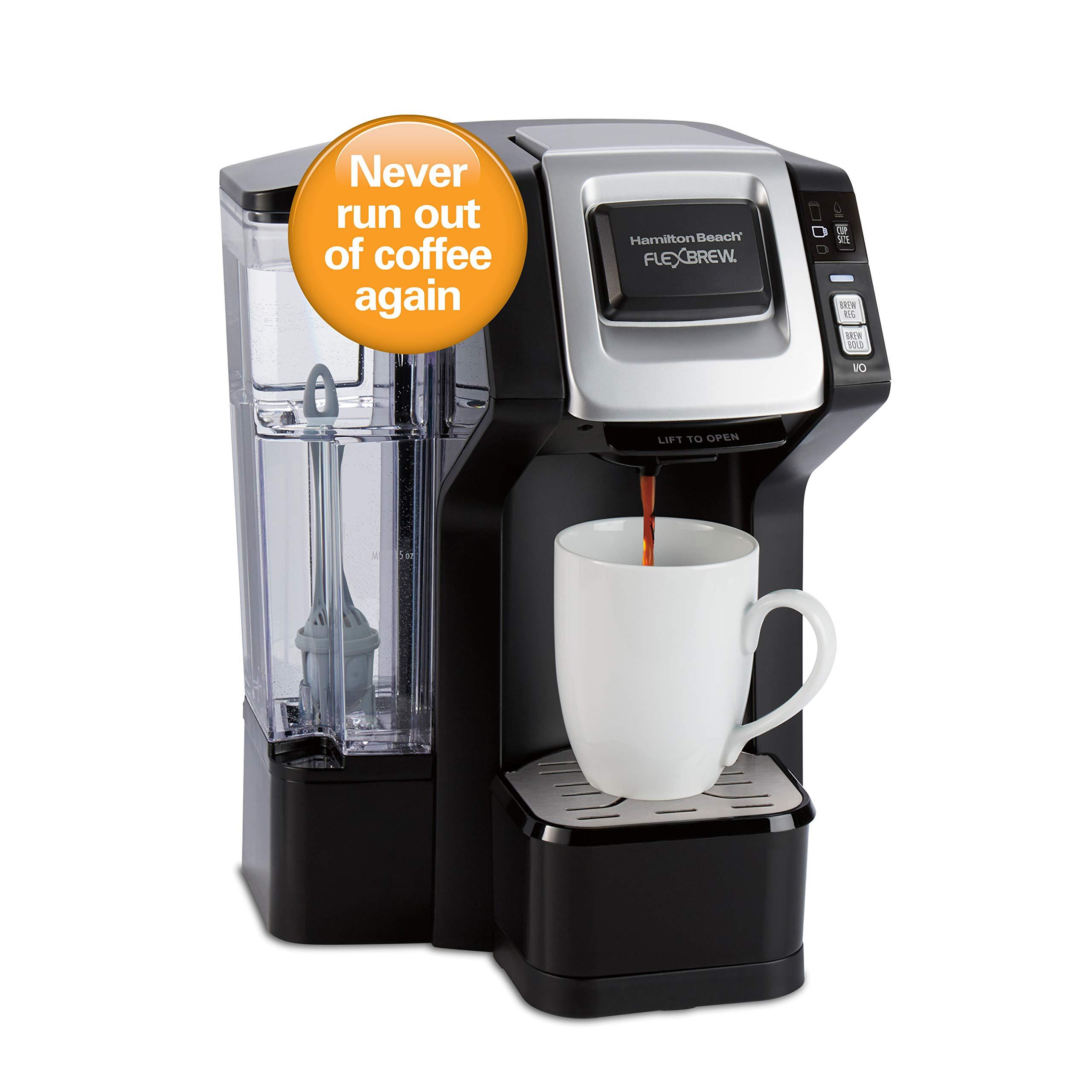 Hamilton Beach 49968 FlexBrew Connected Single Cup Coffee Maker with Amazon Dash Auto Replenishment for Coffee Pods by Hamilton Beach
