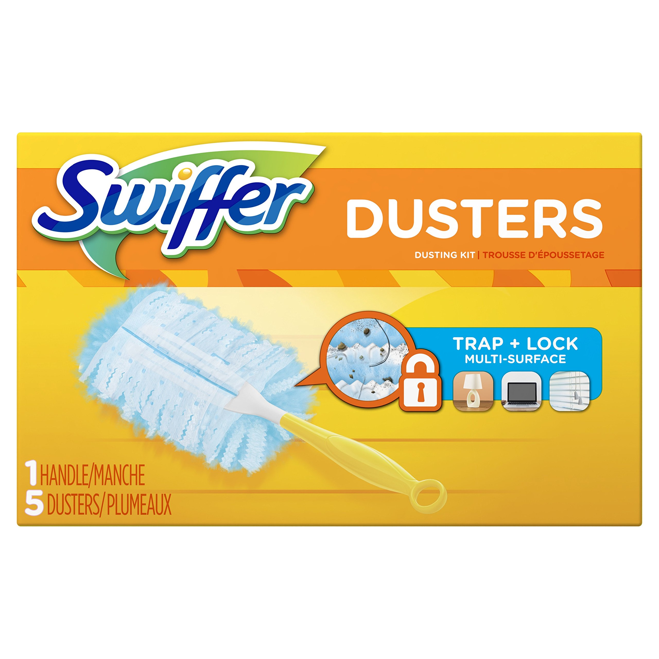 Swiffer 180 Dusters Starter Kit Unscented scent, 5 Count (Packaging May Vary)