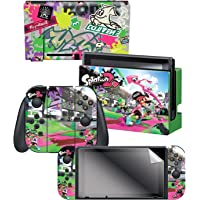 """Controller Gear Nintendo Switch Skin & Screen Protector Set, Officially Licensed By Nintendo - Splatoon 2 """"Sound The…"""