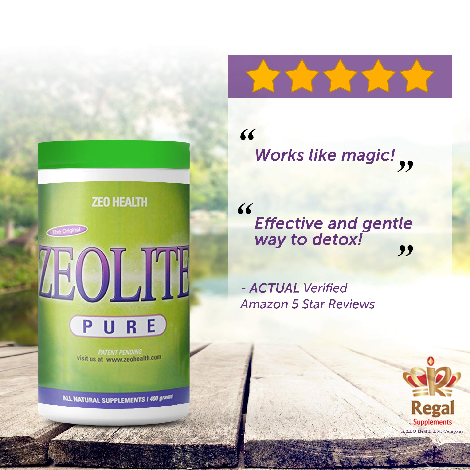 ZEOLITE PURE | Full Body Detox Cleanse | Safe, Gentle, & Effective Energy Booster that Supports Gut Health, Mental Clarity, & Healthy Inflammation Response| Original Zeolite Powder (400 Servings) by ZEOLITE PURE (Image #2)