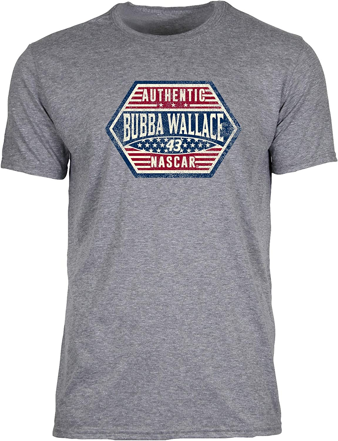 X-Large Premium Heather//Crest NASCAR Richard Petty Motorsports Bubba Wallace Mens Vintage Sheer S//S TVintage Sheer S//S T
