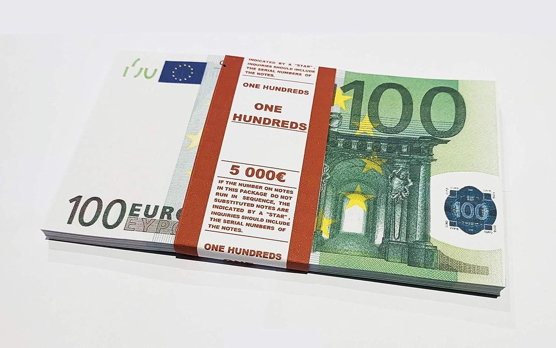 PROP 100 Euros, money, Realistic, Fake Euros, Banknotes Fake Money