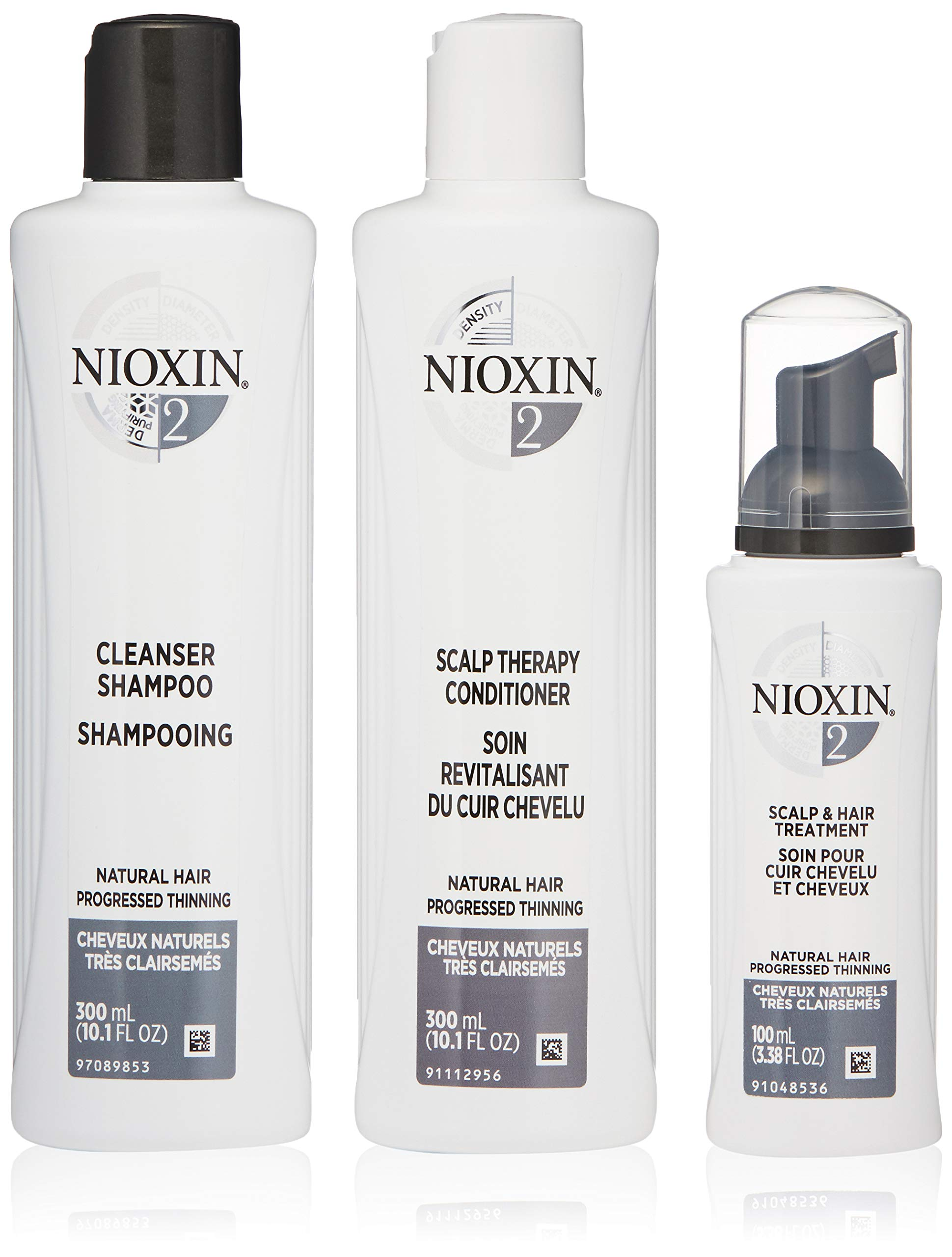 Nioxin Hair Care Kit System 2 for Fine Hair with Progressed Thinning, 3 Count by Nioxin