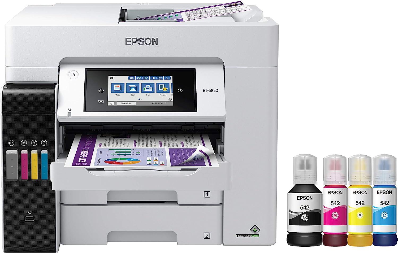 Epson EcoTank Pro ET-5850 All-in-One Supertank Printer (C11CJ29201)