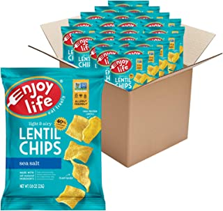 product image for Enjoy Life Sea Salt Lentil Chips, Dairy Free Chips, Soy Free, Nut Free, Non GMO, Vegan, Gluten Free, 24 - 0.8 oz Bags
