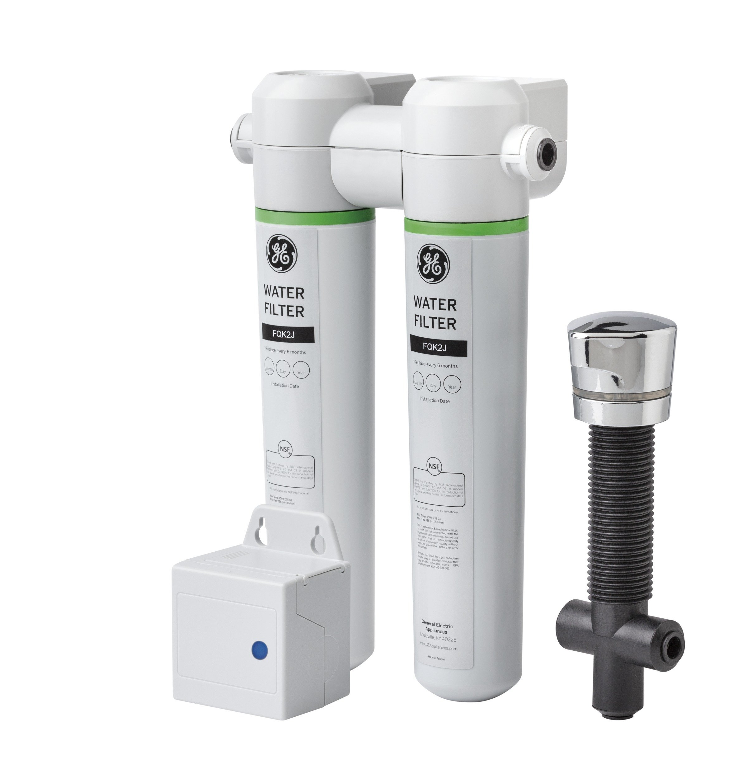 GE GXK285JBL Twist And Lock Under Counter Dual Flow Water Filtration System by GE