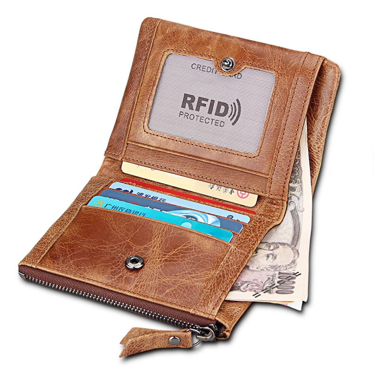 4f77f1a9e9de Wallet for Men Portefeuille Homme avec Blocage RFID Cuir   Porte-Monnaie  Classique, Porte-cartes Format ...