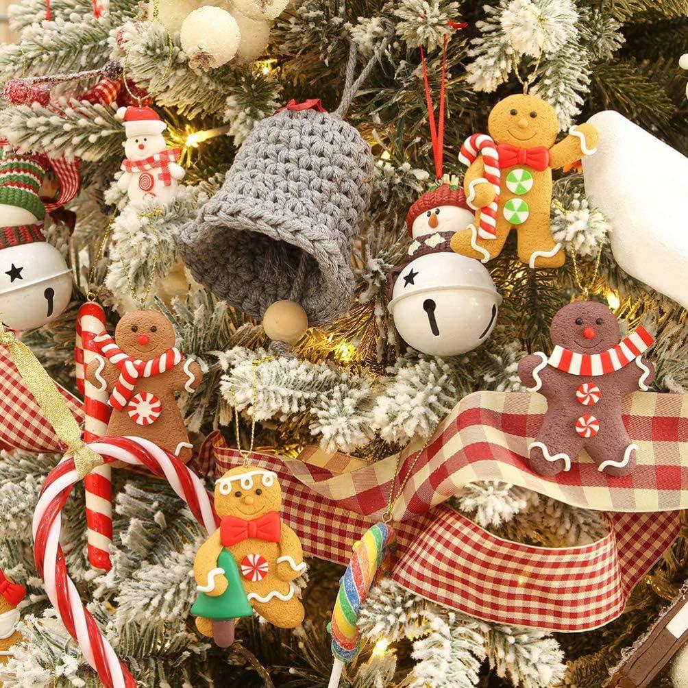 VALICLUD 24Pcs Bonhomme en Pain D/épice Ornements D/écorations darbre de No/ël No/ël Vacances Arbre Ornements Cadeaux /Étiquettes