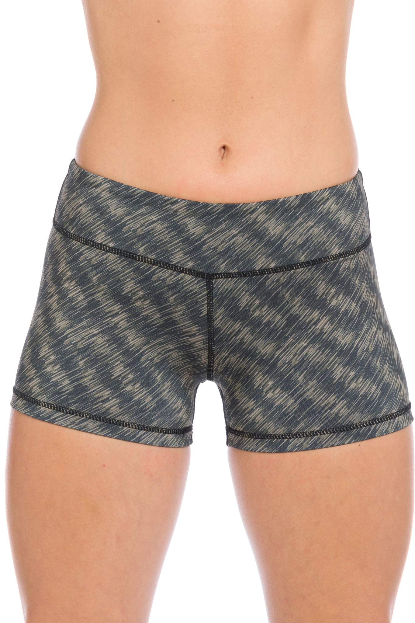 I AM BECOMING IABMFG 3'' Stretch Yoga Booty Shorts - Fitness, WOD, Running (XS, Olive) by I AM BECOMING
