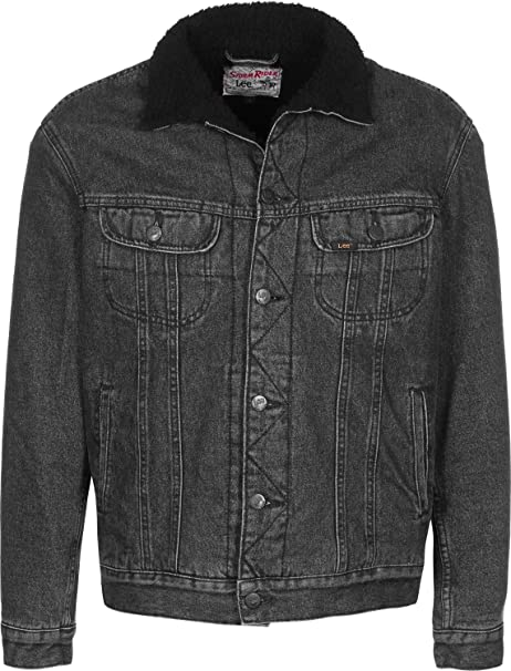 Black Giacca Sherpa Rider Lee Jeans Stone qUvTOpRwTx