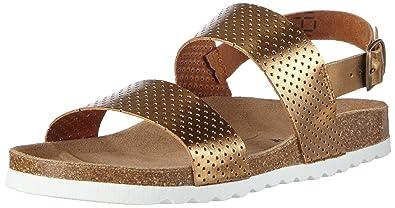 33a60579b68e VERO MODA VMSARA Leather Sandal, Damen Pantoletten, Braun (Copper), 39 EU