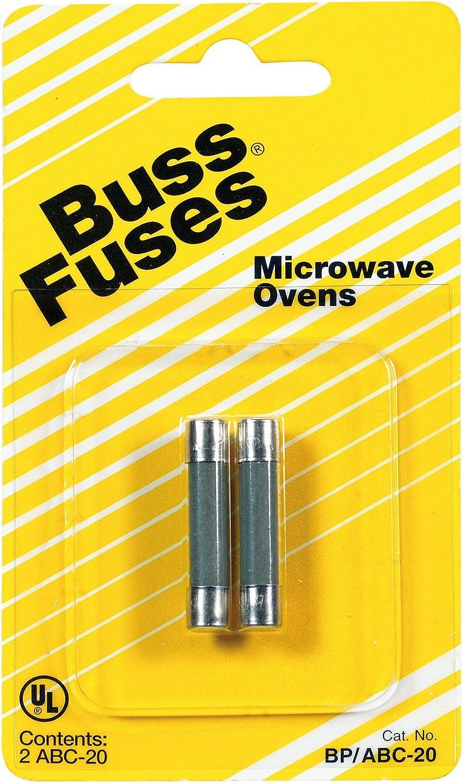 amazon.com: bussman bp/abc-20 20 amp 250 volt microwave oven fuse 2 count:  home improvement  amazon.com