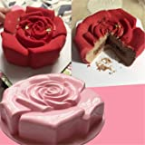 "FantasyDay 11"" Rose Flower Birthday Cake Silicone Cake Baking Pan/Silicone Mold for Anniversary Birthday Cake, Loaf, Muffin, Brownie, Cheesecake, Tart, Pie, Flan, Bread, Pudding and More #1"
