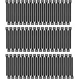 Pasow 100pcs Reusable Fastening Adjustable Cable Ties Wire Management (8 Inch, Black)