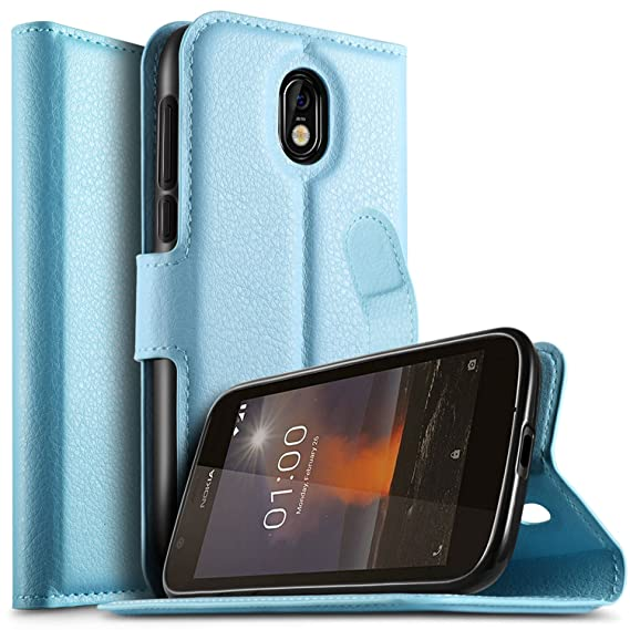 separation shoes bf630 30c38 Nokia 1 case, KuGi Nokia 1 case, ultra-thin MX style PU Cover + TPU Back  Wallet stand Case For Nokia 1 smartphone(Blue)