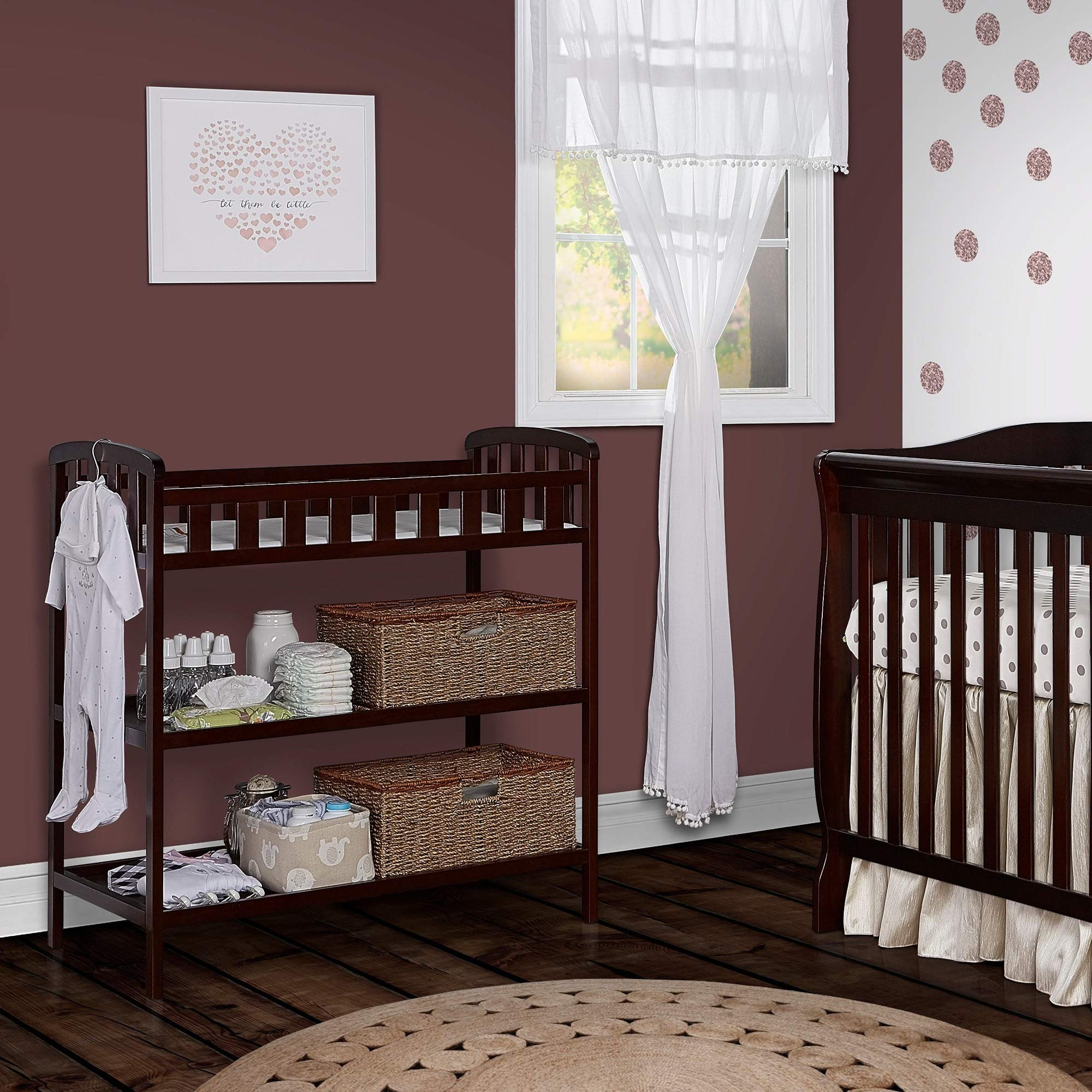 Dream On Me , Emily Changing Table Espresso Espresso Finish by Dream On Me