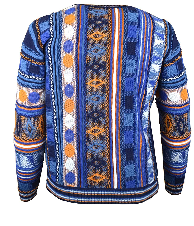 Paolo Deluxe Ausdrucksvoller Pullover Maximo in Grau